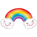 "27"" Rainbow with Clouds SuperShape Balloon"